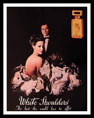 1984 White Shoulders Perfume Ad - Evyan -  Retro Vintage 1980s Advertising Page