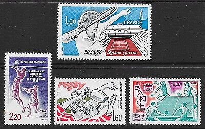 FRANCE: SPORTS selection (4), 1979-86; all MNH