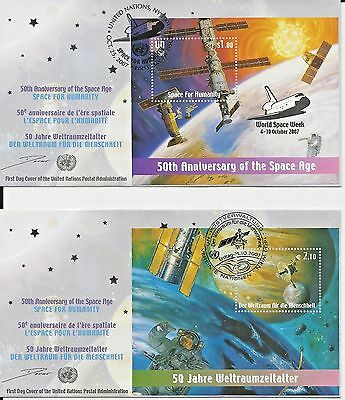 Lot of 11 stamps & 4 50th Anniversary of the Space Age FDCs (2007)  (see scans)