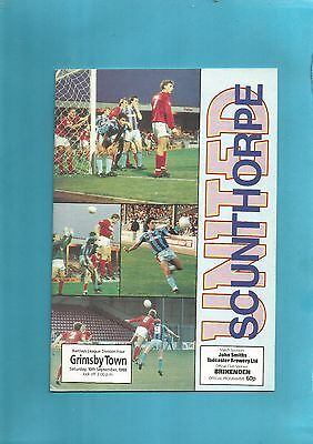Scunthorpe United v Grimsby Town 10th Sept 1988 VGC