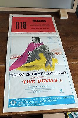"THE DEVILS Oliver Reed ORIGINAL MOVIE POSTER Daybill 13.5 x 30"" M.A.P.S LITHO"