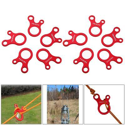 10pcs 3 Hole Quick Knot Tent Wind Rope Buckle Antislip Camping Tightening Hook