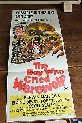THE BOY WHO CRIED WEREWOLF ORIGINAL MOVIE POSTER Daybill 13 x 30""