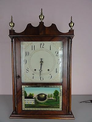 Antique Eli Terry & Sons Pillar and Scroll Shelf Mantle Clock
