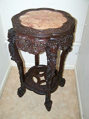 Heavily Carved Hardwood Table