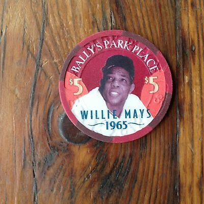 Bally's Park Place Willie Mays  $5 Casino Chip Atlantic City NJ