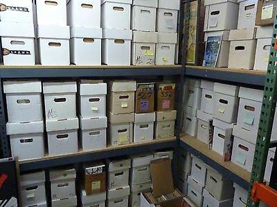 1 box lot 50 OLD COMICS MARVEL DC X-Men Hulk Batman Superman etc wholesale cgc