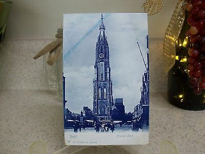 Antique Postcards Lot of 5 Holland Dutch Amsterdam Church Windmill Unused