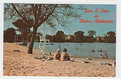 Dover, DE, Silver Lake Beach, 2 pc bathing suits, lifeguard stand