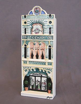 HAZLE CERAMICS: A Nation Of Shopkeepers: Turkey Cafe. Signed Mint in Box