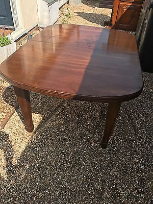 Antique Edwardian Mahogany wind-out Extending dining table