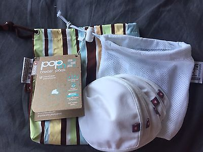 BNIP Close parent Washable Breast Pads X 6 With Mesh Bag And Wet Bag