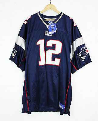 Deadstock Stitched New England Patriots Brady Jersey authentic NFL 58 NWT