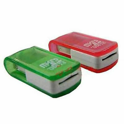 NEW High Speed USB 2.0 T-Flash Micro SD Memory Card Reader (Red/Green)