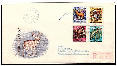 Yugoslavia Wildlife First Day Cover. 1967. Used. #399