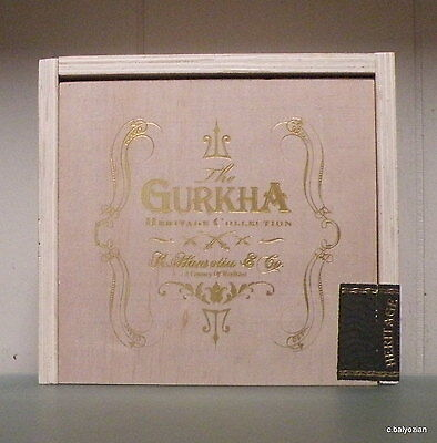 "5"" Deep<>None On Ebay $5 Off<>""The Gurkha Heritage Collection"" Wooden Cigar Box"