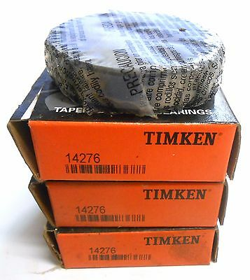 "Timken, Tapered Roller Bearing Cup, 14276, 2.7170"" O.d., 0.6250"" Width, Lot Of 3"