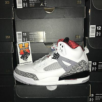 NIKE AIR JORDAN SPIZIKE WHITE VARSITY RED CEMENT GREY 315371-122 NEW ... 2052a8b7d