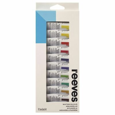 Reeves Watercolour Paint Assorted Colours 10mL 12 Pack