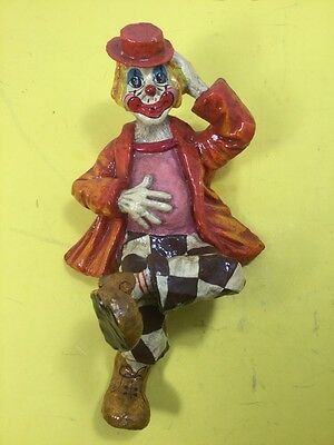 Vintage Hand Crafted Paper Mache Clown Made in Alvarez Mexico