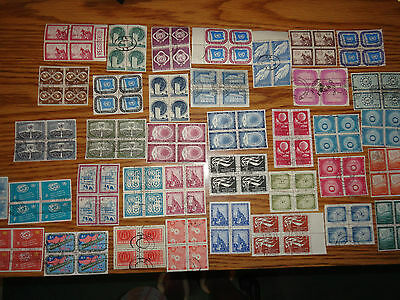 United Nations  Lot Of 84 Differant Used Ny Blocks Of 4  -   336 Stamps  - Ec