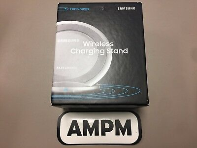 New Samsung Fast Charge Wireless Charging Stand QI Charger OEM Packaging Silver