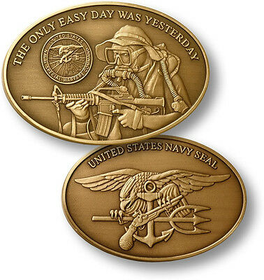 "U.s. Navy Commemorative 1-1/2"" X 2-1/8"" Oval Coin"