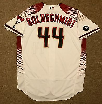 Paul Goldschmidt MLB Holo Game Used Jersey Walk Off Home Run 2016 Diamondbacks