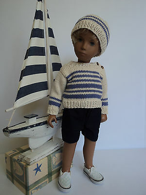 "Sailing Stripes: Cotton Pullover for Gregor/Sasha Doll from ""The Spin I'm In."""