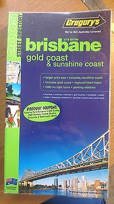gregorys Brisbane gold coast & sunshine coast (Street Directories) 37 th ed 2005