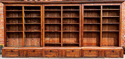 Gorgeous Antique Library Bookcase Golden Oak Victorian 19th Century Circa 1865