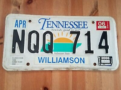 2006 Tennessee Sounds Good To Me Williamson County License Plate Tag