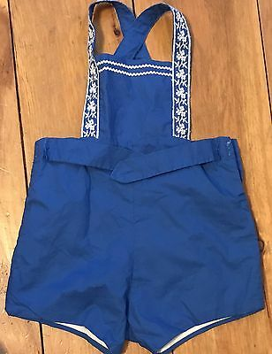 Vintage  Boys Child Toddler Shorts Overalls Romper Circa 1950