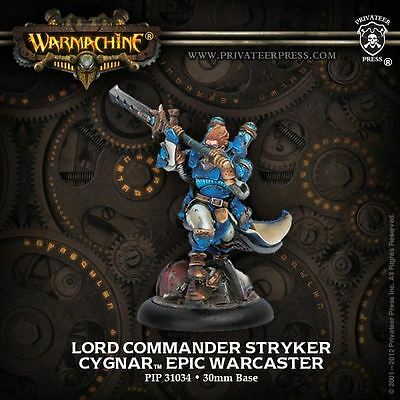 Warmachine: Cygnar - Lord Commander Stryker - New - Nerdy Nerd