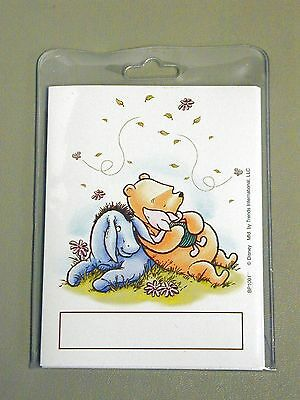 NEW pkg of12 BOOK PLATES~ A.A. Milne ~ Disney WINNIE THE POOH w/ Eeyore & Piglet