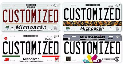 Michoacan Customized Personalized Aluminum Novelty Car Auto License Plate