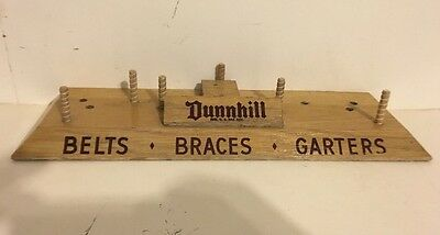 Vintage Dunnhill Belts Braces Garters Store Counter Top Display Advertising