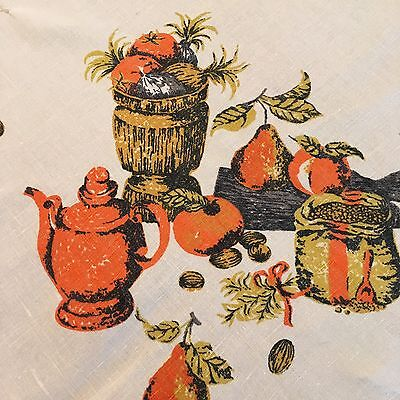 Vintage Printed Tablecloth French Country Style Linen