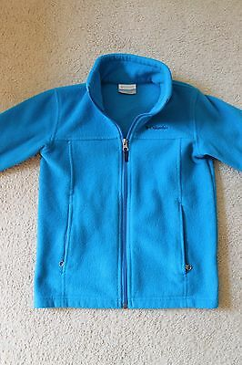 Girl/Boy Size Small (8) Bright Blue Columbia Fleece Sweatshirt Jacket