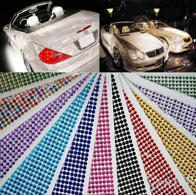 648PC Colours Self-Adhesive Rhinestones & Pearls Stick On Scrapbooking Craft Gem