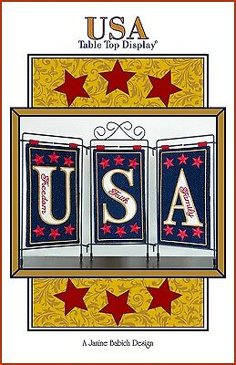 USA TABLE TOP MACHINE EMBROIDERY PATTERN w/CD, from Janine Babich Designs, *NEW*