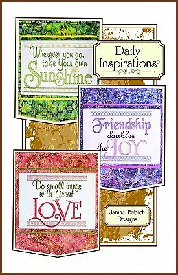 DAILY INSPIRATIONS MACHINE EMBROIDERY CD, from Janine Babich Designs, *NEW*