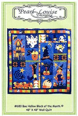 BOO HALLOW BLOCK OF THE MONTH QUILTING PATTERN, From Pearl Louise Designs NEW