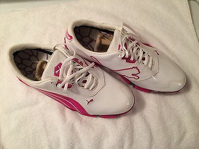 Puma AMP Cell Fusion White/Very Berry Size 9 Golf Shoes
