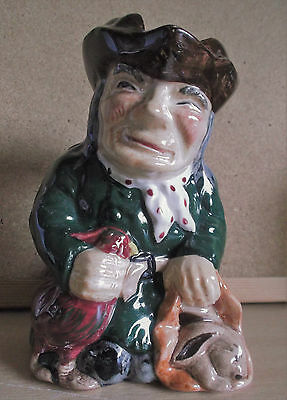 "Roy Kirkham Staffordshire Hand-Painted ""Thief"" Toby Jug"