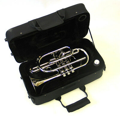 Cornet Nickel Bb w/Case & Mouthpiece, E.F. Durand CR-2151 N