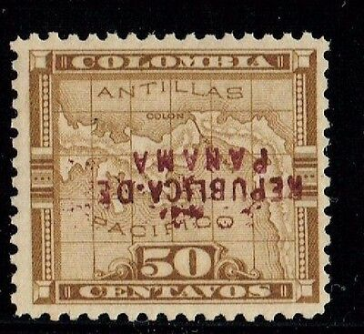 1903 Panama Colombia Inverted Overprint.  Scarce Variety, Orig. Gum.