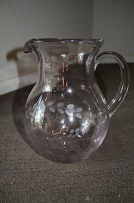 Rose etched jugs