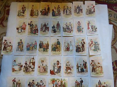 Singer Corporation Sewing 1893 Costumes All Nations Souvenier Lithographs 34