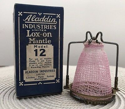 Vintage Aladdin Lox  On Mantle for Model 12  In its Box - Made in England